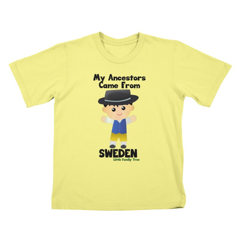 Sweden Ancestors Boy Kids T-shirt by Yellow Fork Tech's Shop