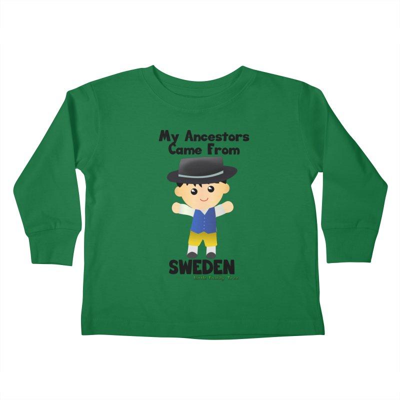Sweden Ancestors Boy Kids Toddler Longsleeve T-Shirt by Yellow Fork Tech's Shop