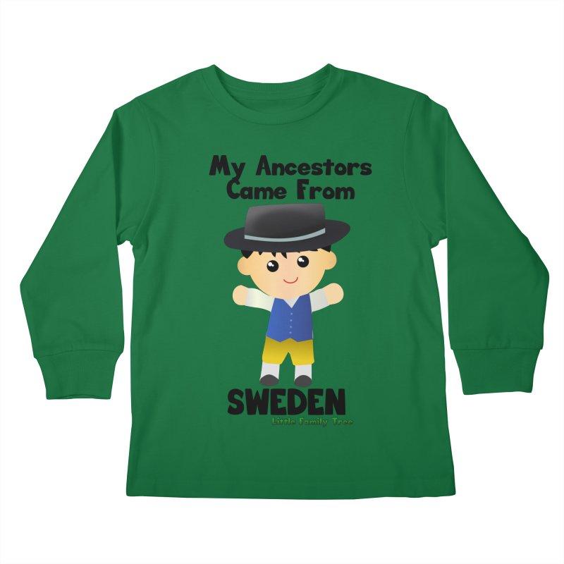 Sweden Ancestors Boy Kids Longsleeve T-Shirt by Yellow Fork Tech's Shop