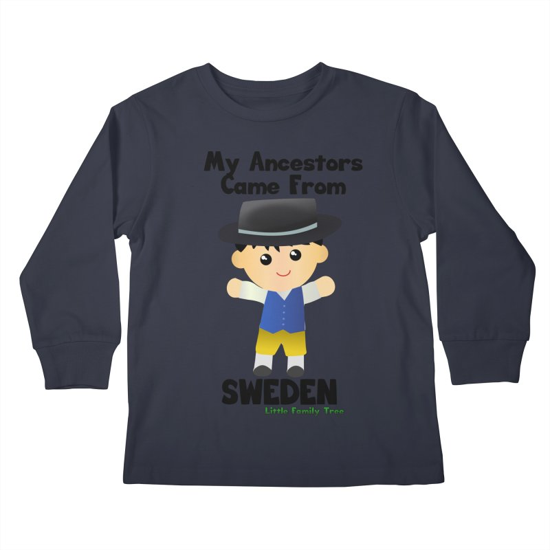 Sweden Ancestors Boy Kids Longsleeve T-Shirt by Yellow Fork Tech's Shop