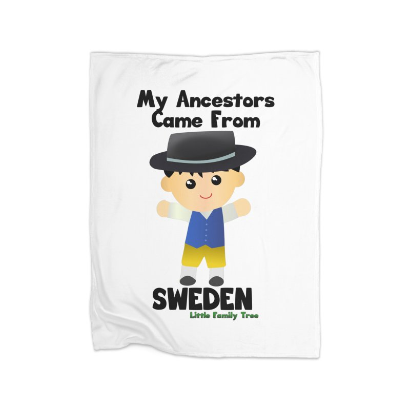 Sweden Ancestors Boy Home Blanket by Yellow Fork Tech's Shop