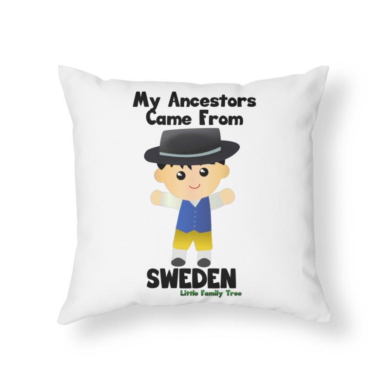 Sweden Ancestors Boy Home Throw Pillow by Yellow Fork Tech's Shop