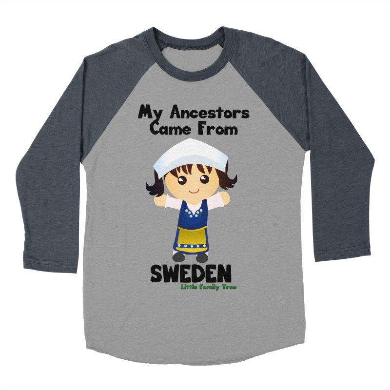 Sweden Ancestors Girl Women's Baseball Triblend T-Shirt by Yellow Fork Tech's Shop