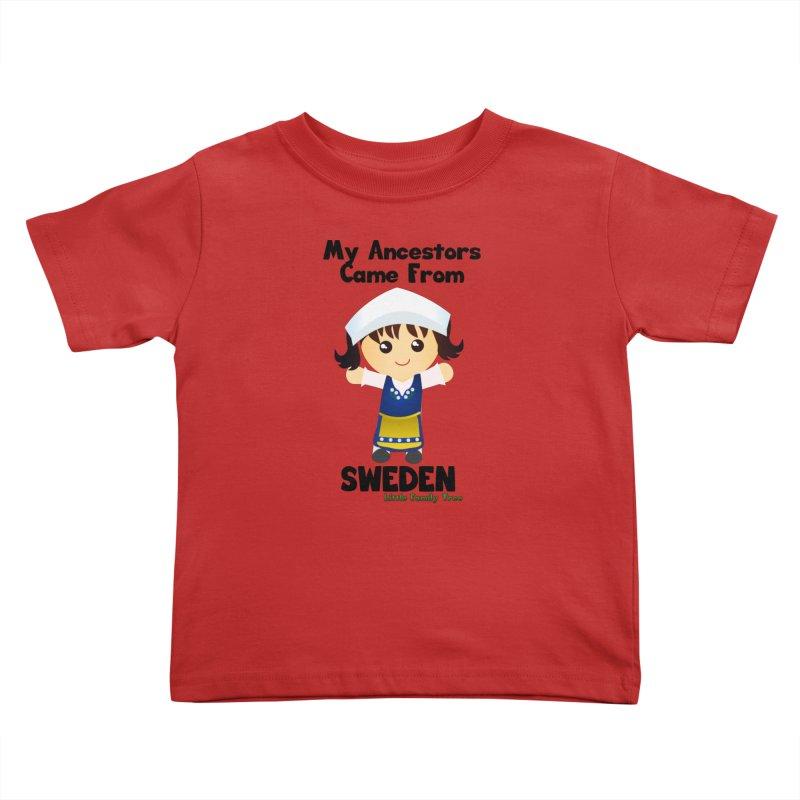 Sweden Ancestors Girl Kids Toddler T-Shirt by Yellow Fork Tech's Shop