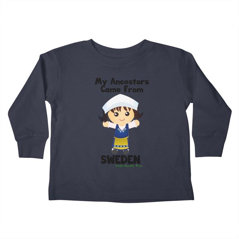 Sweden Ancestors Girl Kids Toddler Longsleeve T-Shirt by Yellow Fork Tech's Shop