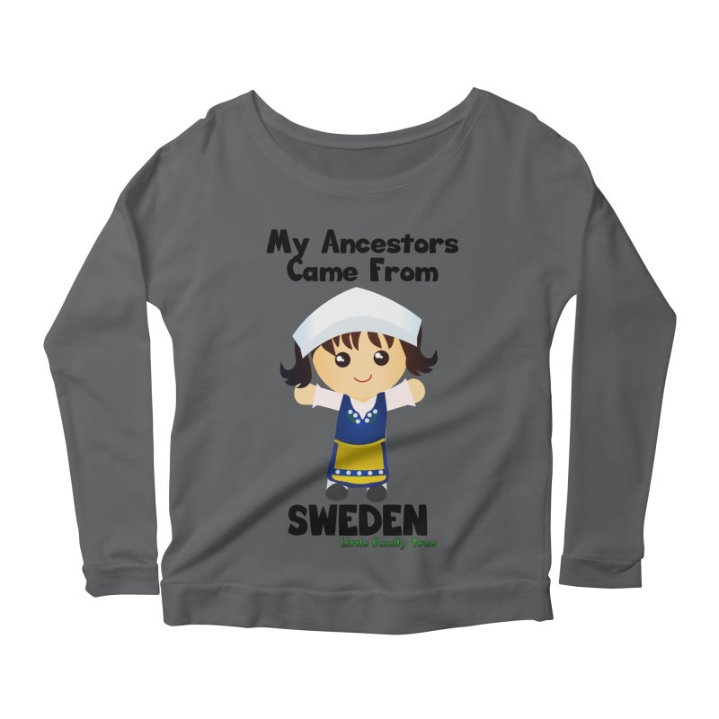 Sweden Ancestors Girl Women's Longsleeve Scoopneck  by Yellow Fork Tech's Shop