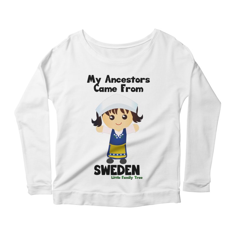 Sweden Ancestors Girl Women's Longsleeve Scoopneck  by Yellow Fork Tech's Shop