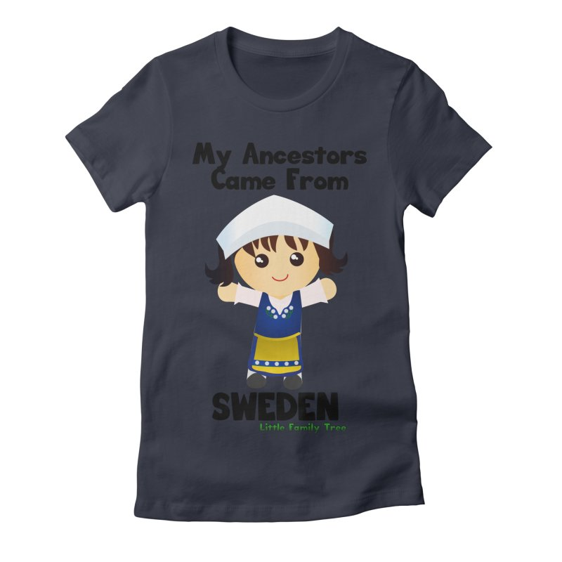 Sweden Ancestors Girl Women's Fitted T-Shirt by Yellow Fork Tech's Shop