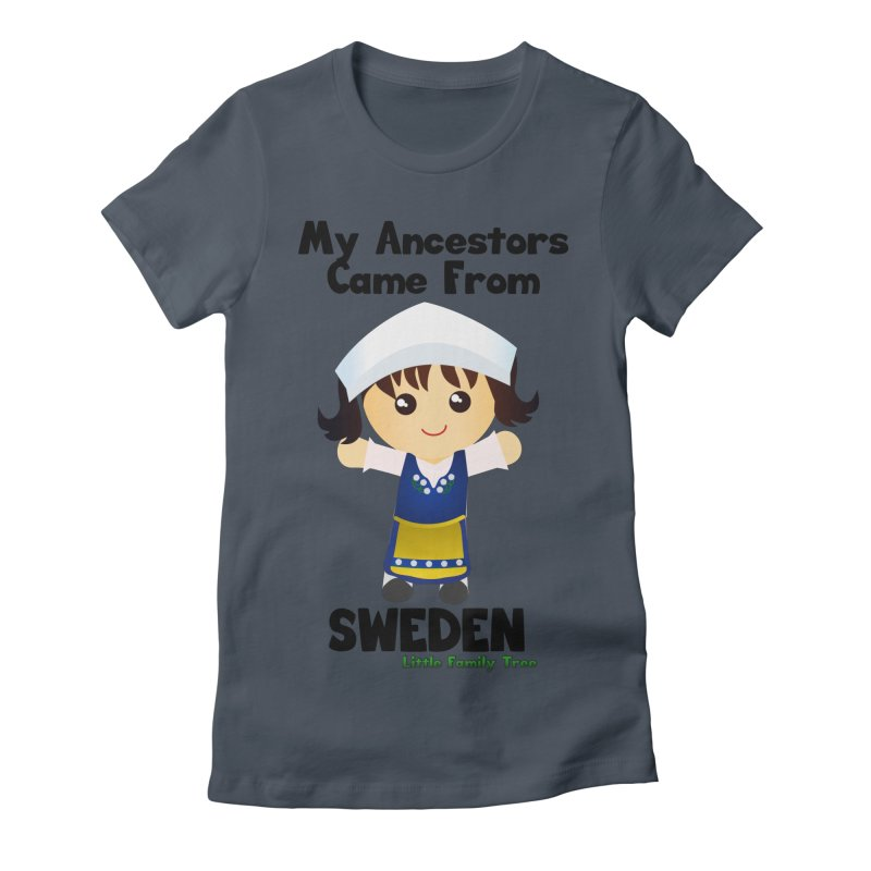 Sweden Ancestors Girl Women's Fitted T-Shirt by Yellow Fork Tech's Shop