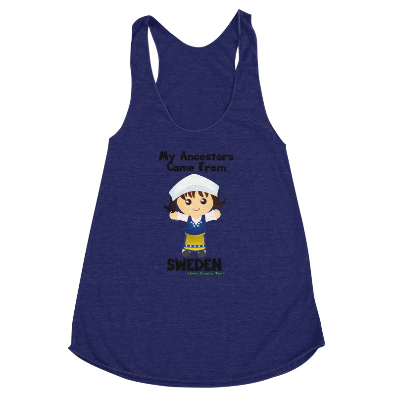 Sweden Ancestors Girl Women's Racerback Triblend Tank by Yellow Fork Tech's Shop