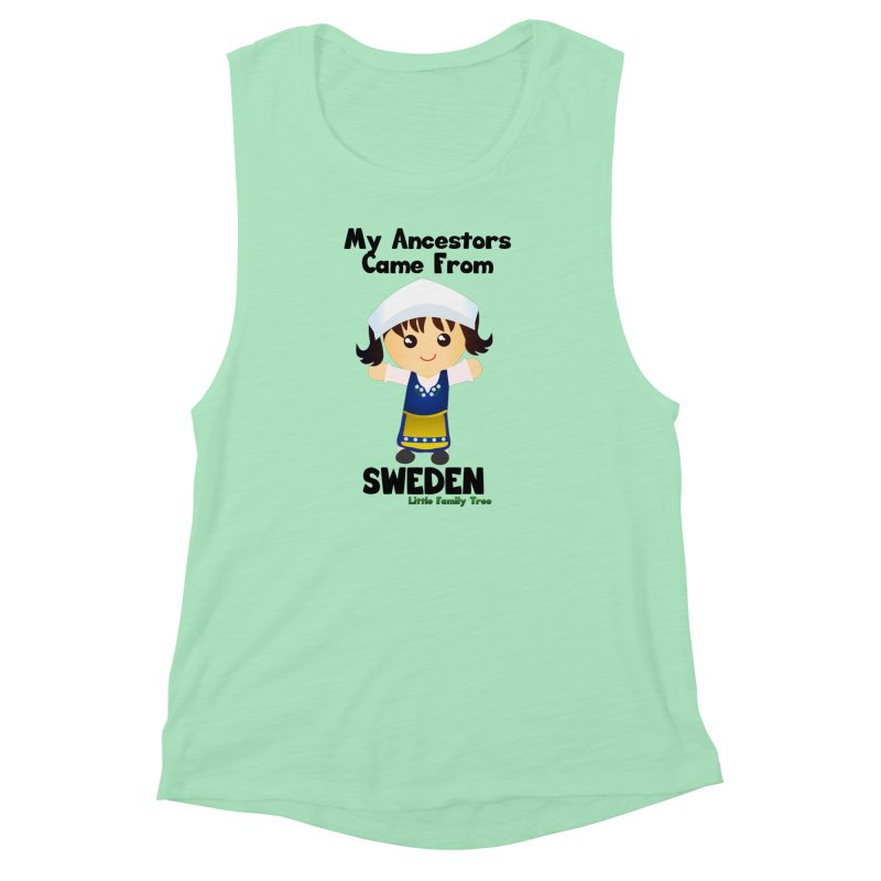 Sweden Ancestors Girl Women's Muscle Tank by Yellow Fork Tech's Shop