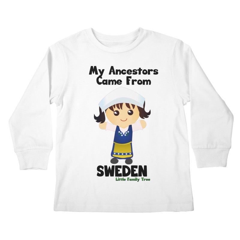 Sweden Ancestors Girl Kids Longsleeve T-Shirt by Yellow Fork Tech's Shop