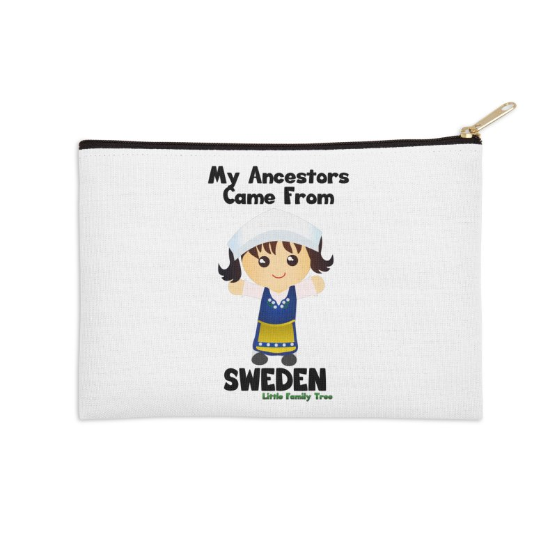 Sweden Ancestors Girl Accessories Zip Pouch by Yellow Fork Tech's Shop