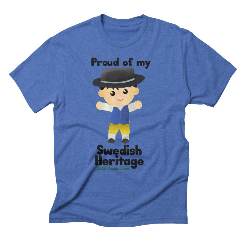 Swedish Heritage Boy Men's Triblend T-Shirt by Yellow Fork Tech's Shop