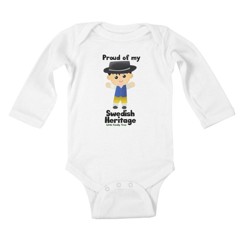 Swedish Heritage Boy Kids Baby Longsleeve Bodysuit by Yellow Fork Tech's Shop