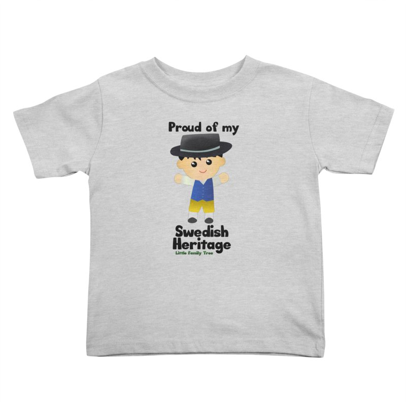 Swedish Heritage Boy Kids Toddler T-Shirt by Yellow Fork Tech's Shop
