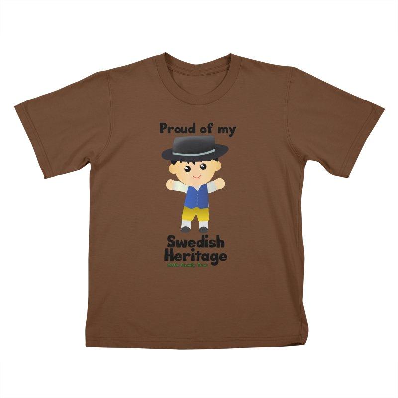 Swedish Heritage Boy Kids T-Shirt by Yellow Fork Tech's Shop