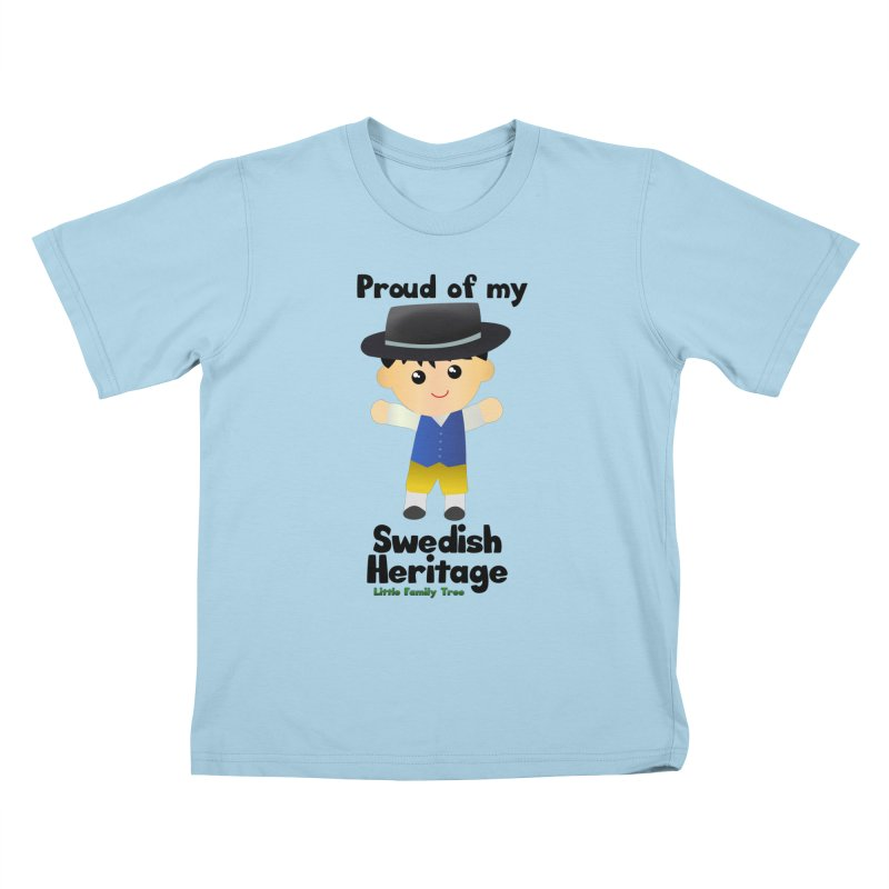 Swedish Heritage Boy Kids T-Shirt by Yellow Fork Tech's Shop