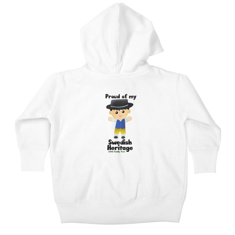 Swedish Heritage Boy Kids Baby Zip-Up Hoody by Yellow Fork Tech's Shop