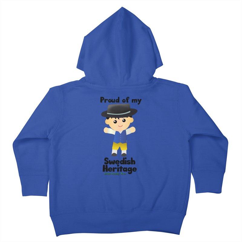 Swedish Heritage Boy Kids Toddler Zip-Up Hoody by Yellow Fork Tech's Shop