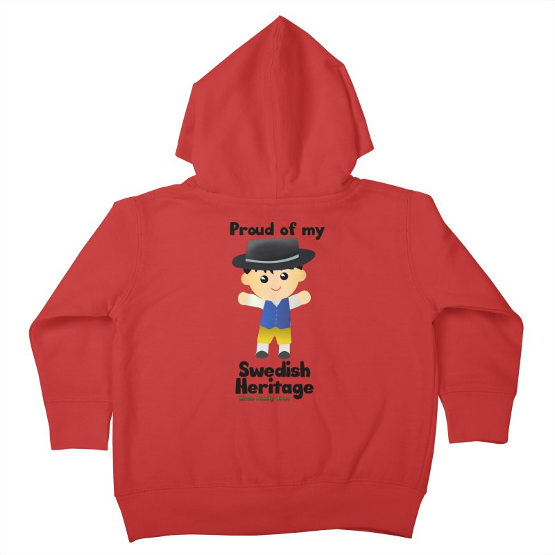 Swedish Heritage Boy Kids Toddler Zip-Up Hoody by Yellow Fork Tech's Shop