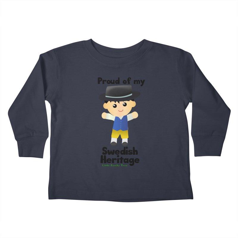 Swedish Heritage Boy Kids Toddler Longsleeve T-Shirt by Yellow Fork Tech's Shop