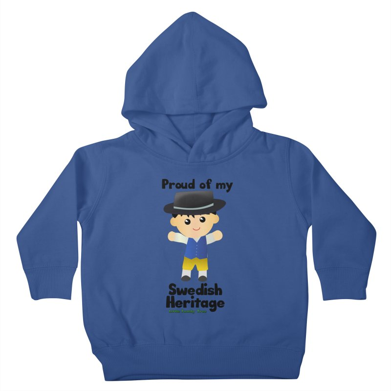 Swedish Heritage Boy Kids Toddler Pullover Hoody by Yellow Fork Tech's Shop