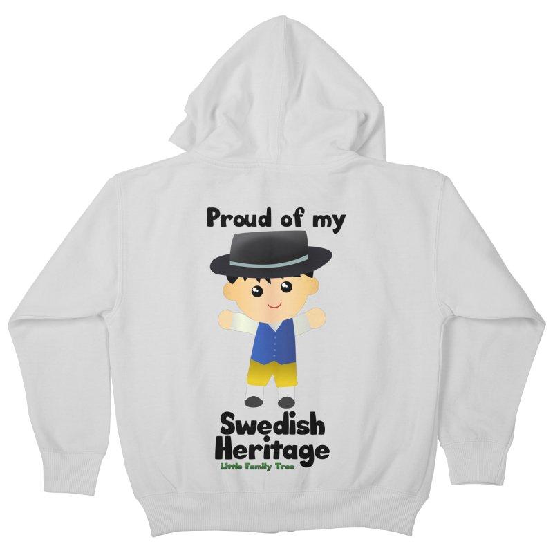 Swedish Heritage Boy Kids Zip-Up Hoody by Yellow Fork Tech's Shop