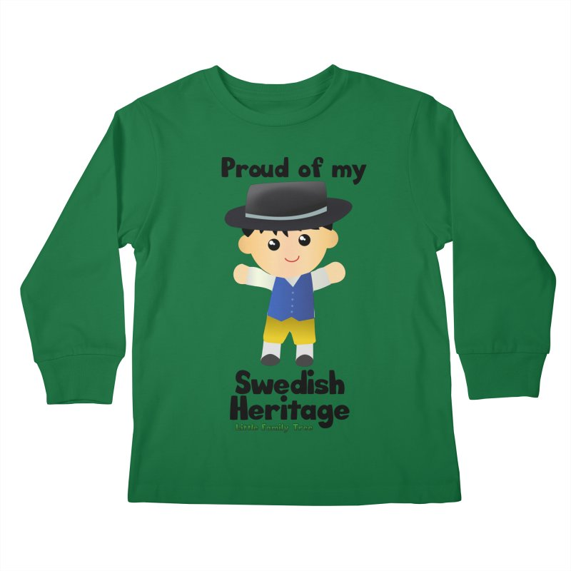Swedish Heritage Boy Kids Longsleeve T-Shirt by Yellow Fork Tech's Shop