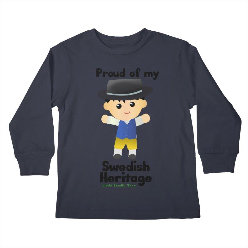 Swedish Heritage Boy Kids Longsleeve T-Shirt by Yellow Fork Tech's Shop