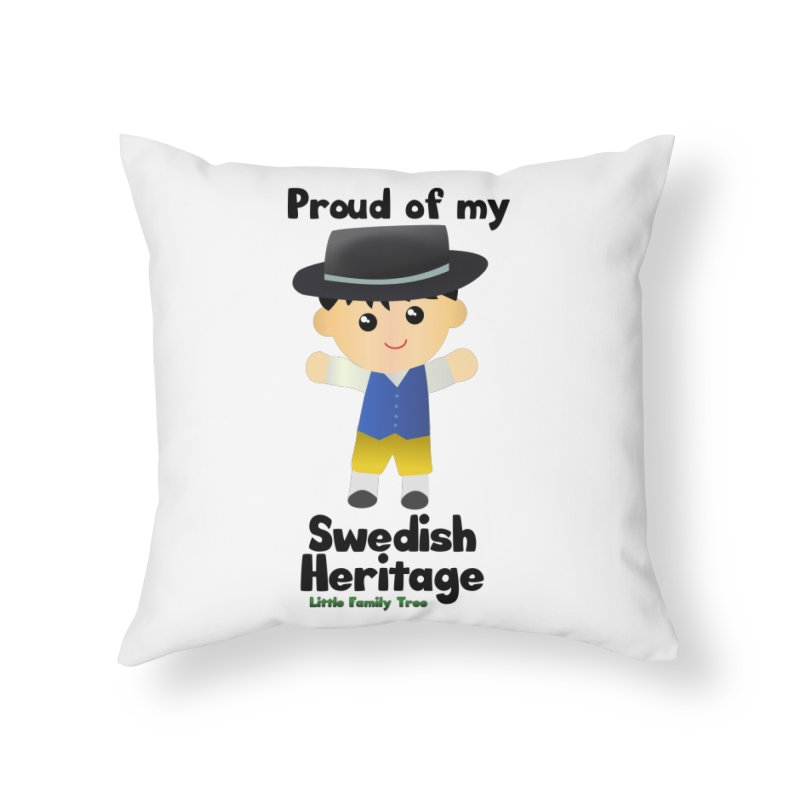 Swedish Heritage Boy Home Throw Pillow by Yellow Fork Tech's Shop