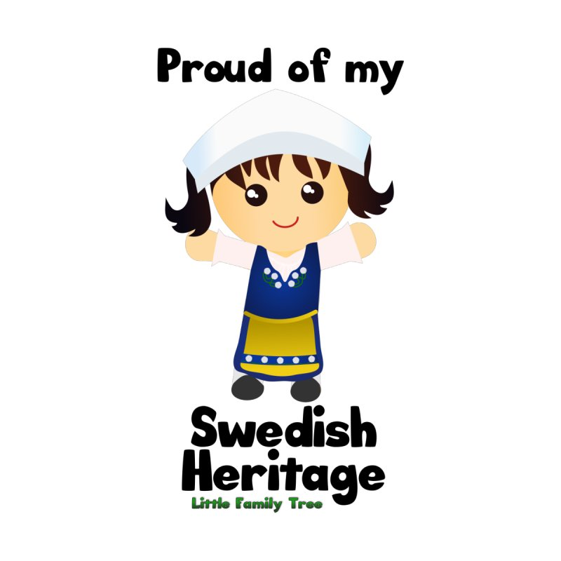 Swedish Heritage Girl Kids T-Shirt by Yellow Fork Tech's Shop