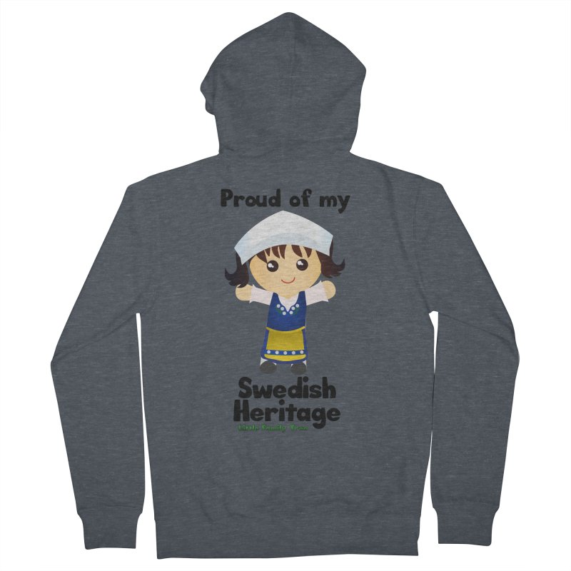 Swedish Heritage Girl Women's Zip-Up Hoody by Yellow Fork Tech's Shop