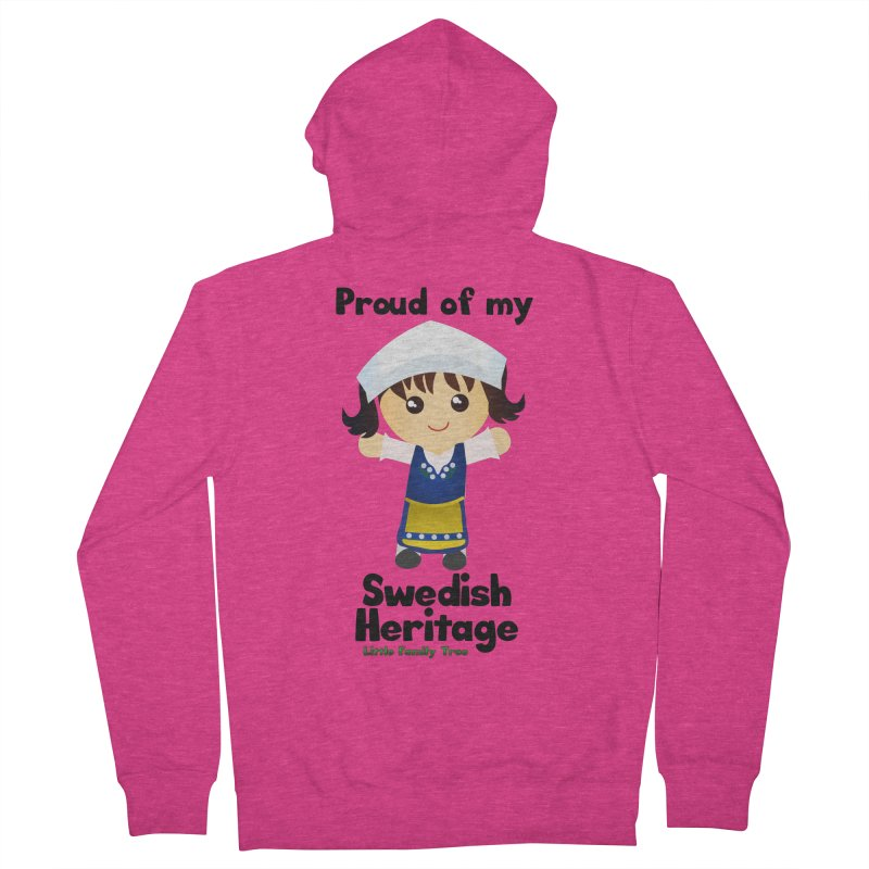 Swedish Heritage Girl Women's Zip-Up Hoody by Yellow Fork Tech's Shop