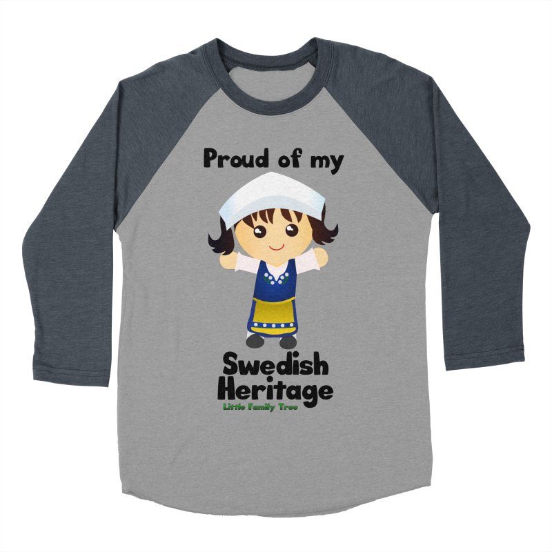 Swedish Heritage Girl Women's Baseball Triblend T-Shirt by Yellow Fork Tech's Shop