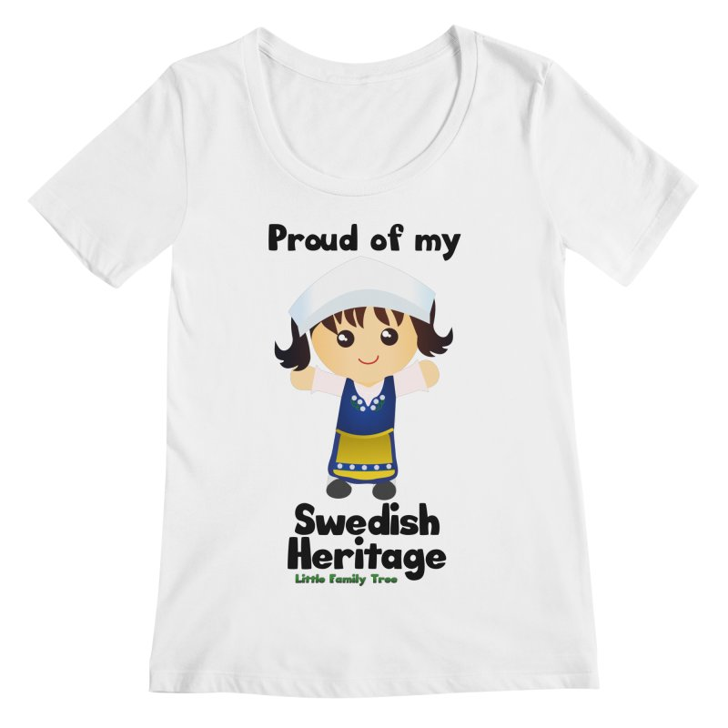 Swedish Heritage Girl Women's Scoopneck by Yellow Fork Tech's Shop