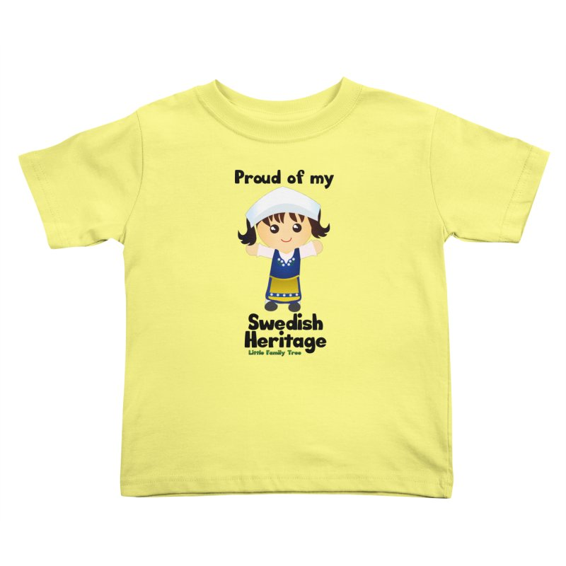 Swedish Heritage Girl Kids Toddler T-Shirt by Yellow Fork Tech's Shop