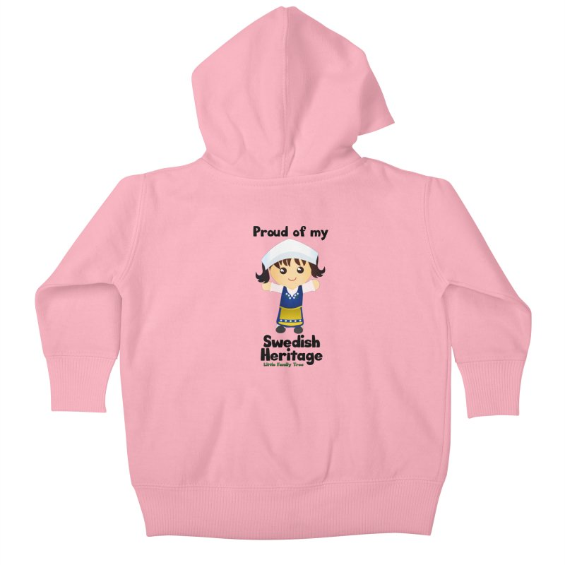 Swedish Heritage Girl Kids Baby Zip-Up Hoody by Yellow Fork Tech's Shop