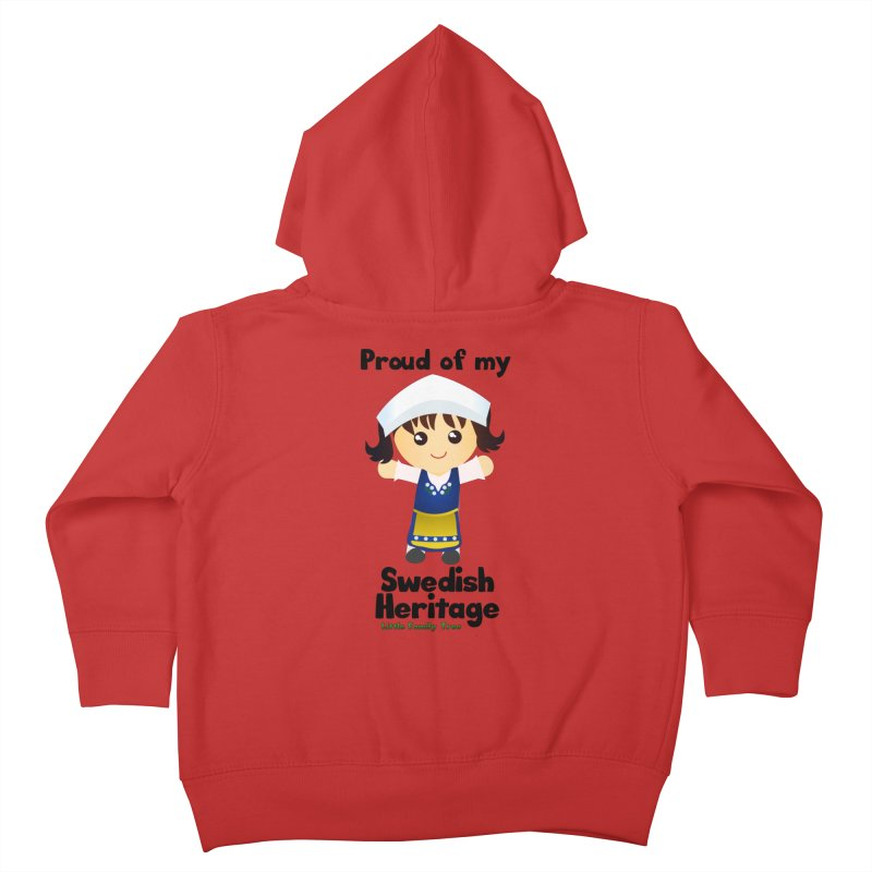 Swedish Heritage Girl Kids Toddler Zip-Up Hoody by Yellow Fork Tech's Shop