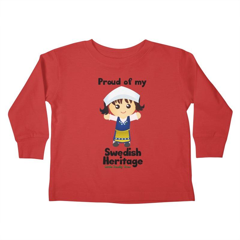 Swedish Heritage Girl Kids Toddler Longsleeve T-Shirt by Yellow Fork Tech's Shop
