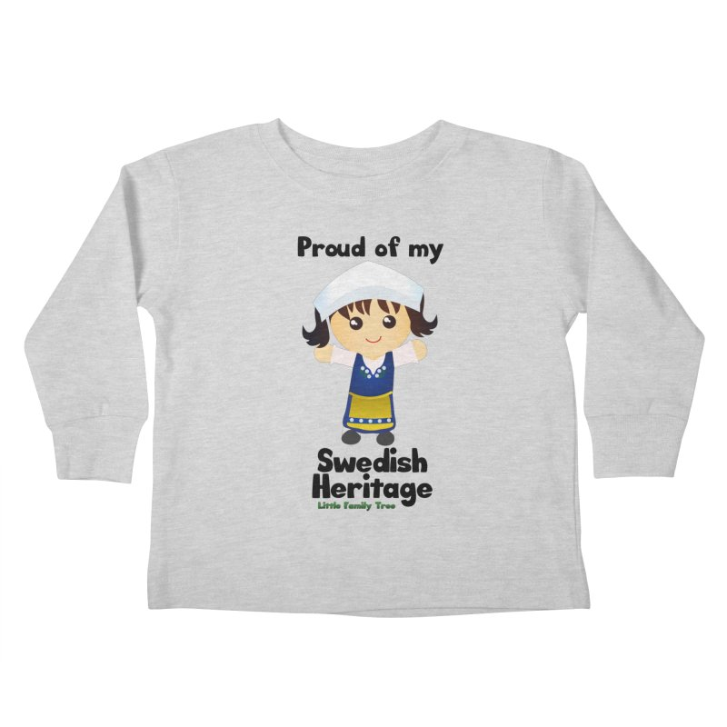 Swedish Heritage Girl Kids Toddler Longsleeve T-Shirt by Yellow Fork Tech's Shop