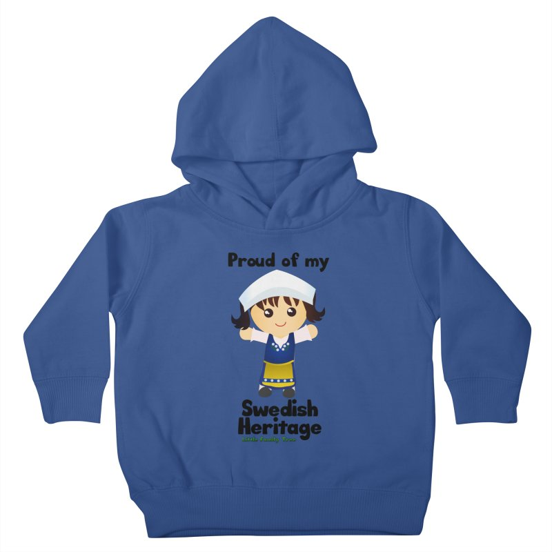 Swedish Heritage Girl Kids Toddler Pullover Hoody by Yellow Fork Tech's Shop