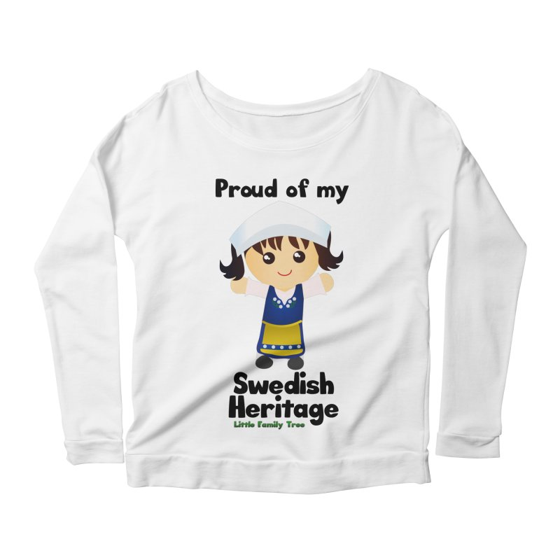 Swedish Heritage Girl Women's Longsleeve Scoopneck  by Yellow Fork Tech's Shop