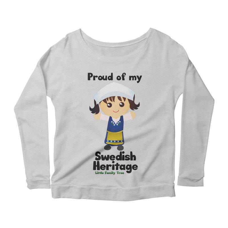 Swedish Heritage Girl Women's Longsleeve Scoopneck  by Yellow Fork Tech's Shop