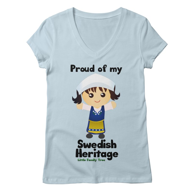 Swedish Heritage Girl Women's V-Neck by Yellow Fork Tech's Shop