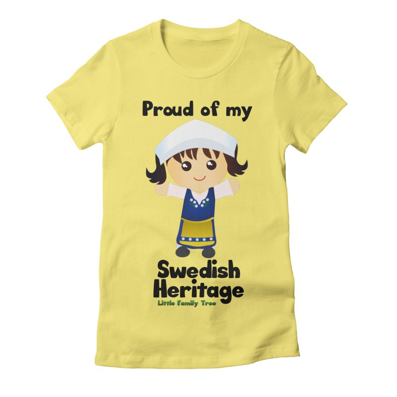Swedish Heritage Girl Women's Fitted T-Shirt by Yellow Fork Tech's Shop