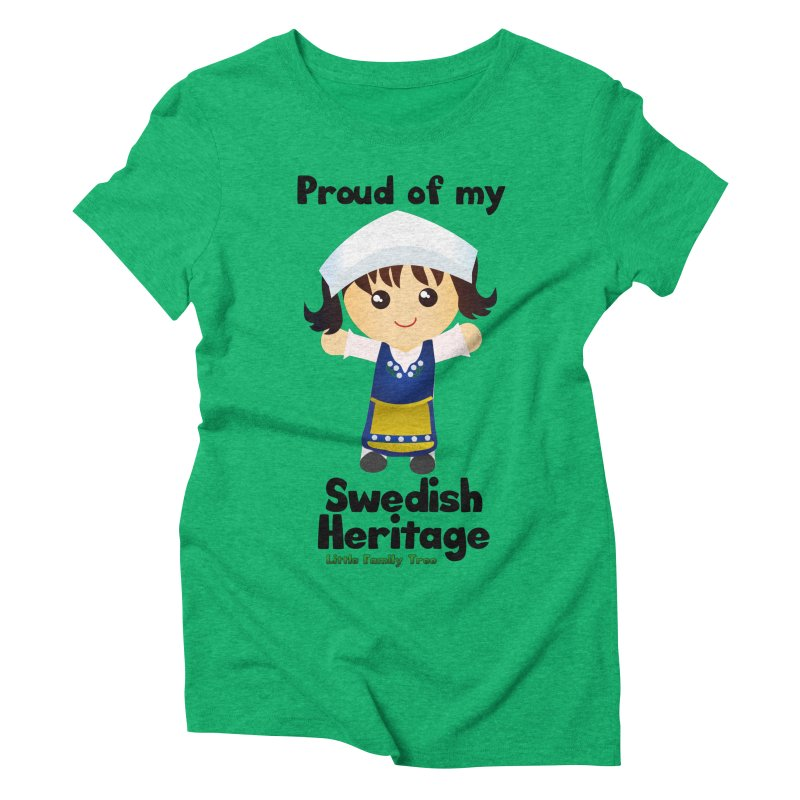 Swedish Heritage Girl Women's Triblend T-Shirt by Yellow Fork Tech's Shop