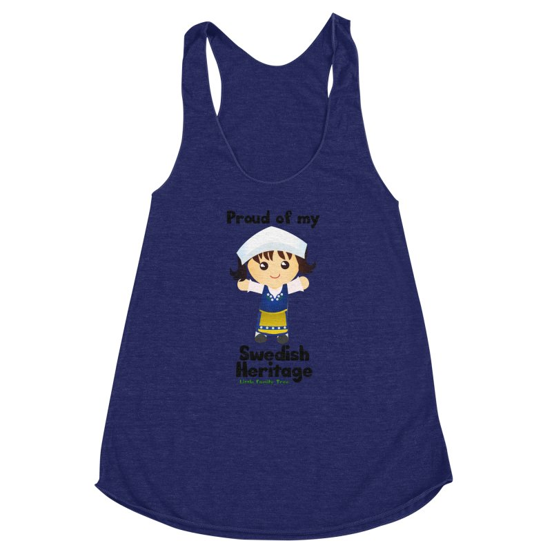 Swedish Heritage Girl Women's Racerback Triblend Tank by Yellow Fork Tech's Shop