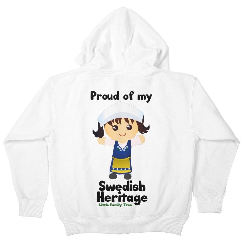 Swedish Heritage Girl Kids Zip-Up Hoody by Yellow Fork Tech's Shop