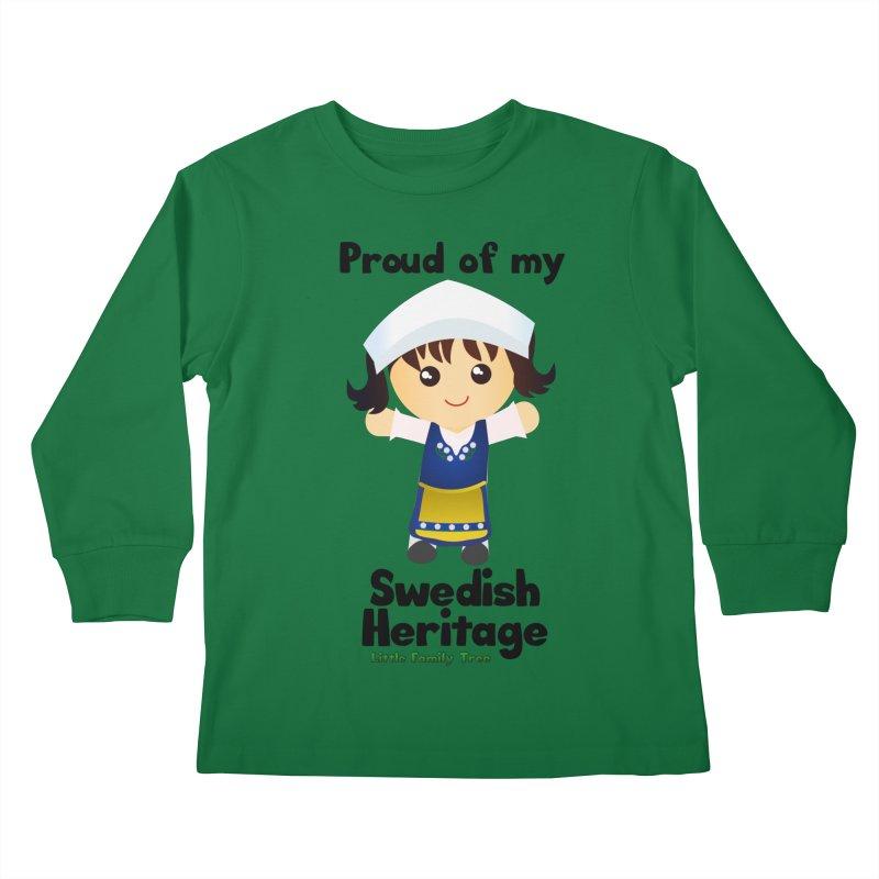 Swedish Heritage Girl Kids Longsleeve T-Shirt by Yellow Fork Tech's Shop